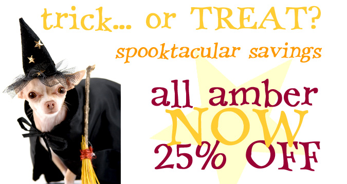 Spooktacular Amber Jewelry Sale at Andzia's Amber Jewelry