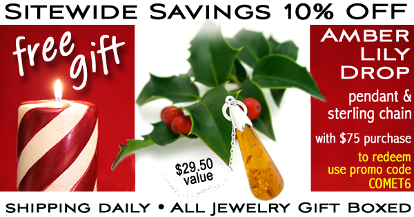 Amberjewelry.com's Holiday 08 Gift with $75 Purchase Opportunity: Amber Lily Drop pendant