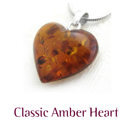 Warm, Romantic Baltic Amber Heart - the perfect gift for Valentine's Day