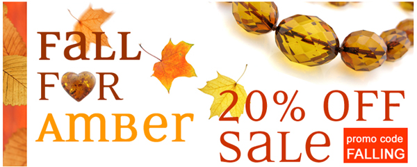 fall amber jewelry sale 20% off