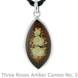 Three roses amber cameo