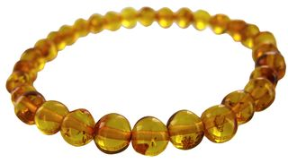 Honey bead bracelet amber
